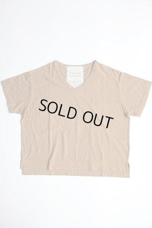 画像1: FABRIQUE en planete terre  オーバーサイズVネック半袖Tシャツ キャメル