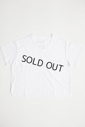 画像1: FABRIQUE en planete terre  オーバーサイズVネック半袖Tシャツ ホワイト