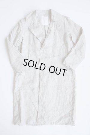 画像1: AUGUSTE-PRESENTATION Pajama Look リネンチェスターコート LIGHT GREY