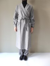 BRENA ROBE COAT(ALPACA/SILK NEP DENIM) GRY
