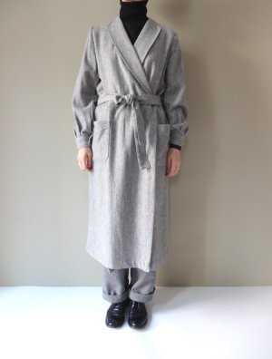 画像1: BRENA ROBE COAT(ALPACA/SILK NEP DENIM) GRY