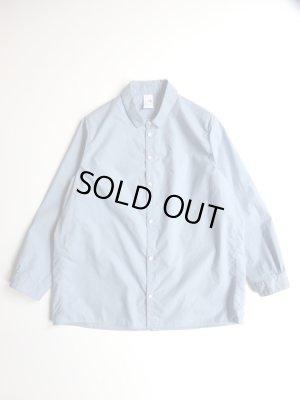 画像1: NO CONTROL AIR 60/1スーピマコットンタイプライターレギュラーカラーシャツ Frosty Blue