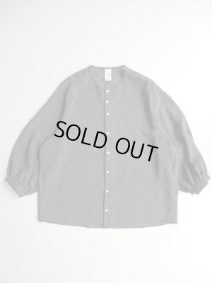画像1: NO CONTROL AIR トリアセテート&ポリエステルスラブボイルシャツ Slate Grey