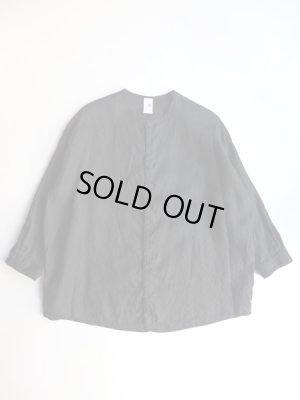 画像1: NO CONTROL AIR 80/-平織リネンクルーネックシャツ Black