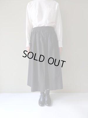 画像1: atelier naruse コットンパッチポケットスカート ブラック