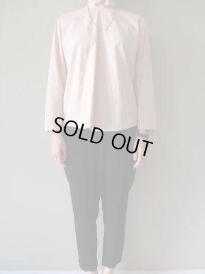 画像1: NO CONTROL AIR コットン100/2コーマ高密ブロードスタンドカラーシャツ Rose Dust