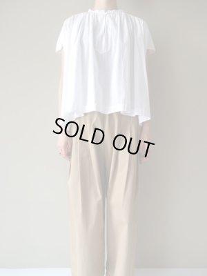 画像1: utilite キャンブリックギャザーシャツ シロ